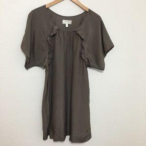 Slate Grey Ruffle Shit Dress - Moulinette Soeurs